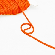Cord, cotton, 4mm, 16189-10475, orange