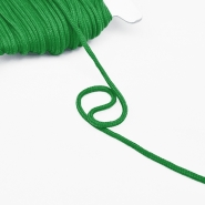 Cord, cotton, 4mm, 16189-10473, green