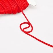Cord, cotton, 4mm, 16189-10476, red