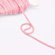 Cord, cotton, 4mm, 16189-10478, pink