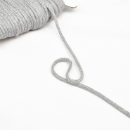 Cord, cotton, 4mm, 16189-10470, grey melange