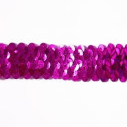 Elastic with sequins, 30mm, 16192-11268, fuchsia