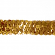 Elastic with sequins, 30mm, 16192-11260, gold