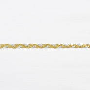 Trim, braid, 16195-10671, silver gold