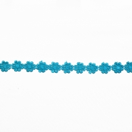 Trim, flowers, 16202-40990, turquoise