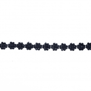 Trim, flowers, 16202-40994, black