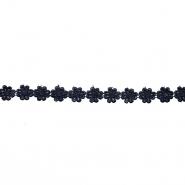 Traka, cvijeće, 16202-40994, crna