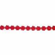 Trim, flowers, 16202-40987, red