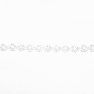 Trim, flowers, 16202-40983, white