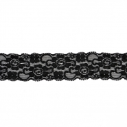 Lace, elastic, 55mm, 16203-41010, black