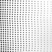 Tkanina, tanja, točkice, 16263-4, crno bijela