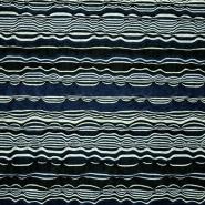 Jersey, črte, 13516-008, črno modra