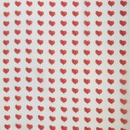 Chiffon, polyester, hearts, 16263-39