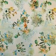 Jersey, poliester, cvetlični, 16274-028