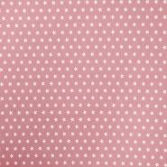 Bombaž, poplin, zvezde, 15596-004