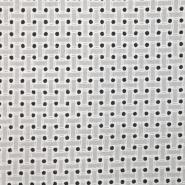 Bombaž, rišelje, pike, 16422-050, bela