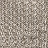 Spitze, geometrisch, Kreise, 16418-746, beige