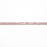 Band, Kunstleder mit Kristallen, 16512-41556, rosa
