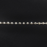 Trim, crystals, 16513-42362, 4mm, silver
