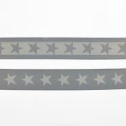 Gumielastika, 40mm, zvijezde, 16515-42500, siva