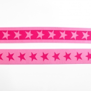 Elastic strip, 40mm, stars, 16515-42503, pink