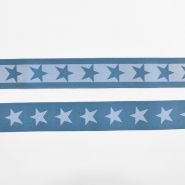 Elastic strip, 40mm, stars, 16515-42509, blue