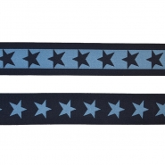 Elastic strip, 40mm, stars, 16515-42490, dark blue