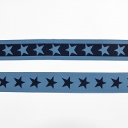 Elastic strip, 40mm, stars, 16515-42491, blue
