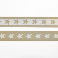 Elastic strip, 40mm, stars, 16515-42512, beige