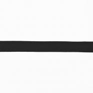 Obrubna traka, jersey, pamuk, 16517-42734, crna