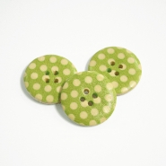 Button, wooden, print, 30 mm 16518-42234 - Bema Fabrics