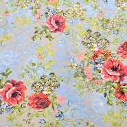 Tkanina, elastična, cvetlični, 16534-052