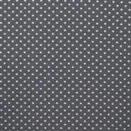 Jersey, cotton, dots, 16363-063, grey