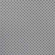 Jersey, cotton, dots, 16363-163, grey
