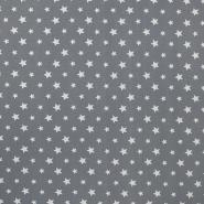 Jersey, pamuk, zvijezde, 16365-063, siva