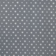 Jersey, Baumwolle, Sterne, 16365-063, grau