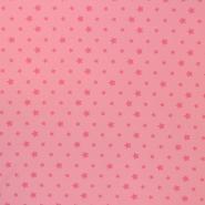 Jersey, cotton, stars, 16365-112, pink