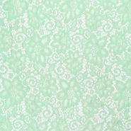 Čipka, elastična, 16543-022, mint
