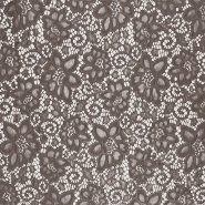 Lace, elastic, 16543-054, brown
