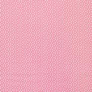 Tkanina, viskoza, kvadratki, 16554-012, roza