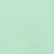 Fabric, viscose, squares, 16555-022, mint