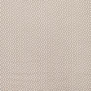Fabric, viscose, squares, 16554-052, beige