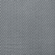 Fabric, viscose, squares, 16555-050, grey