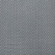 Fabric, viscose, squares, 16555-050, grey