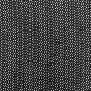 Fabric, viscose, squares, 16555-069, black