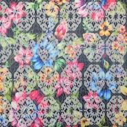 Žakard, tisk, cvetlični, 16556-008