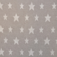 Frotir, zvezde, 16582-170, bež bela