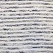 Pletivo tanjše, črte, 16585-600, modro bela