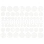 Preslikač, krogi, 16600, bela