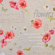 Dekostoff, Druck, Blumen, 15188-105